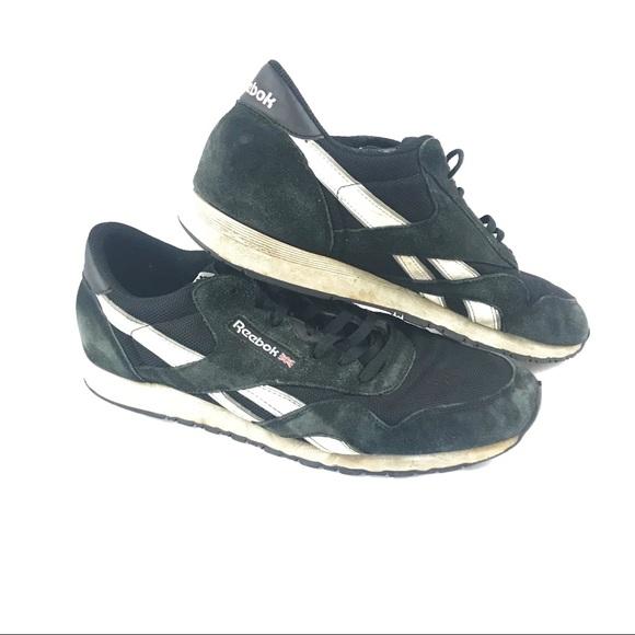 53d7440e5d0a97 Men s 13 Reebok CL Ballistic Sneakers Black white